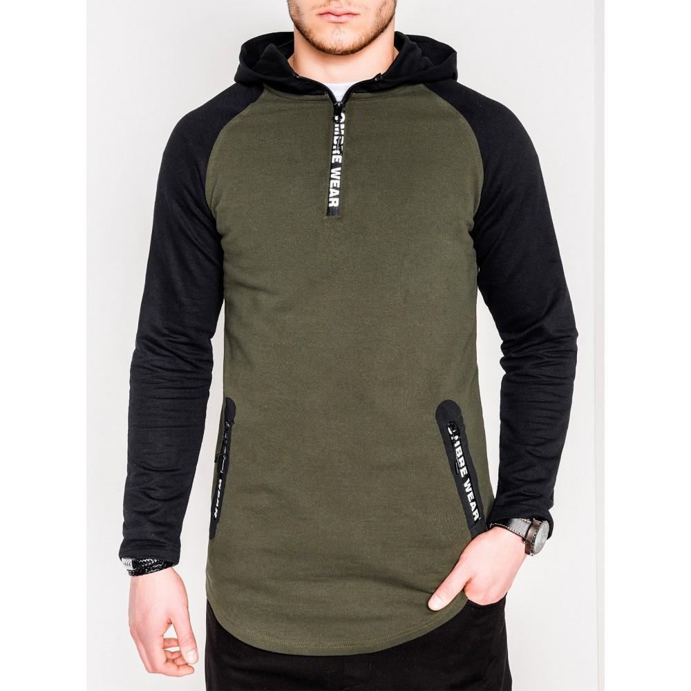 """Chaki vyriškas džemperis su kapišonu """"Wear"""""""