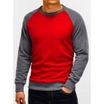 """Raudonas su pilku vyriškas džemperis """"Redpi"""""""