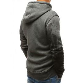 "Pilkas vyriškas džemperis su gobtuvu ""Migel"""