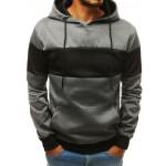 """Tamsiai pilkas vyriškas džemperis su gobtuvu """"Rovo"""""""