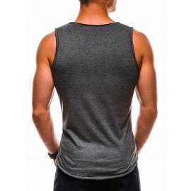 """Tamsiai pilki vyriški marškinėliai be rankovių """"Ent"""""""