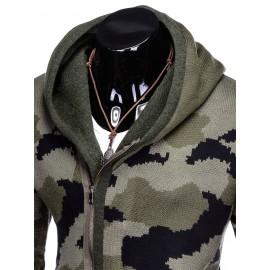 """Vyriškas chaki megztinis su užtrauktuku """"Bira"""""""