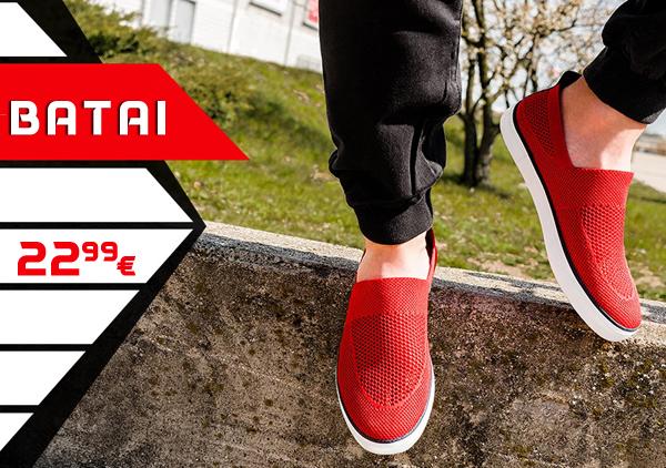 """Raudoni vyriški laisvalaikio batai """"Slipa"""""""