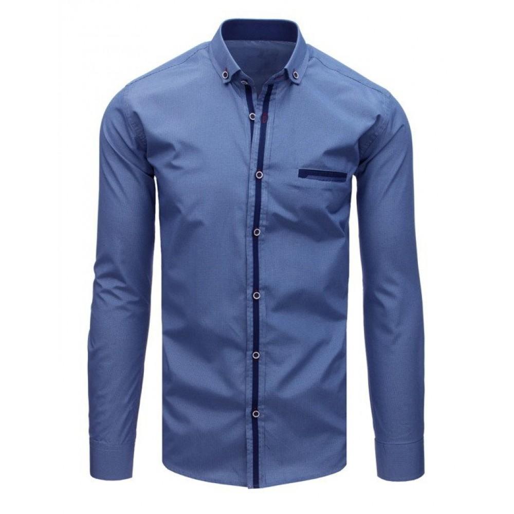 "Mėlyni vyriški marškiniai ""Leto"""