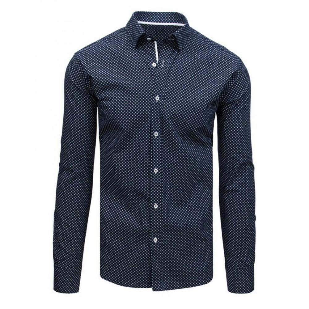 """Tamsiai mėlynos spalvos marškiniai """"Tabele"""""""